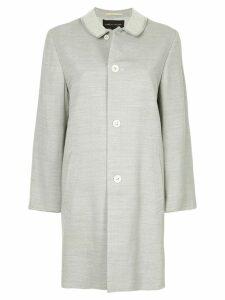 Comme Des Garçons Pre-Owned club collar midi coat - Grey