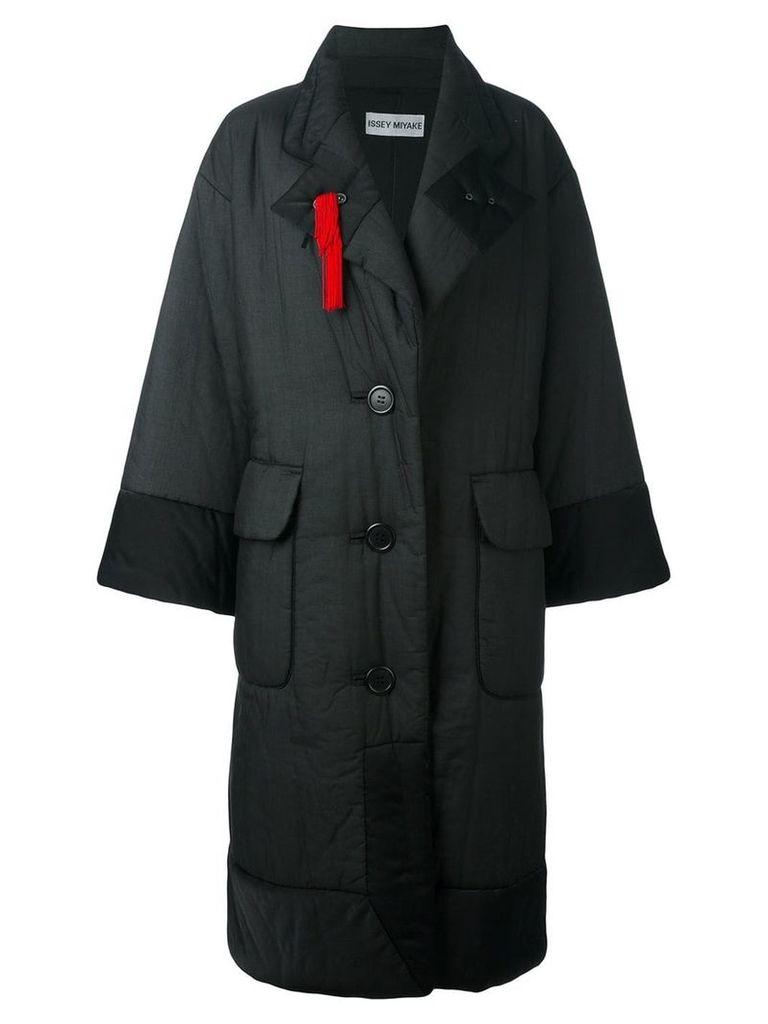 Issey Miyake Vintage padded oversized coat - Black
