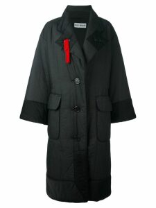ISSEY MIYAKE PRE-OWNED padded oversized coat - Black