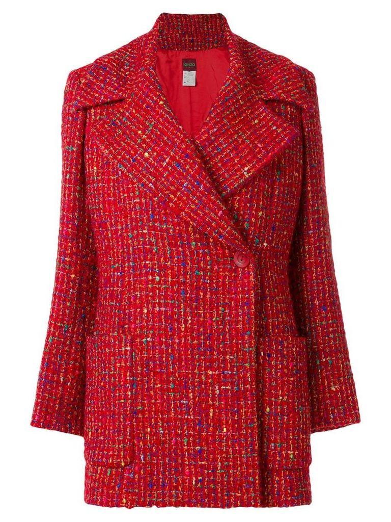 Kenzo Vintage revere collar coat - Red