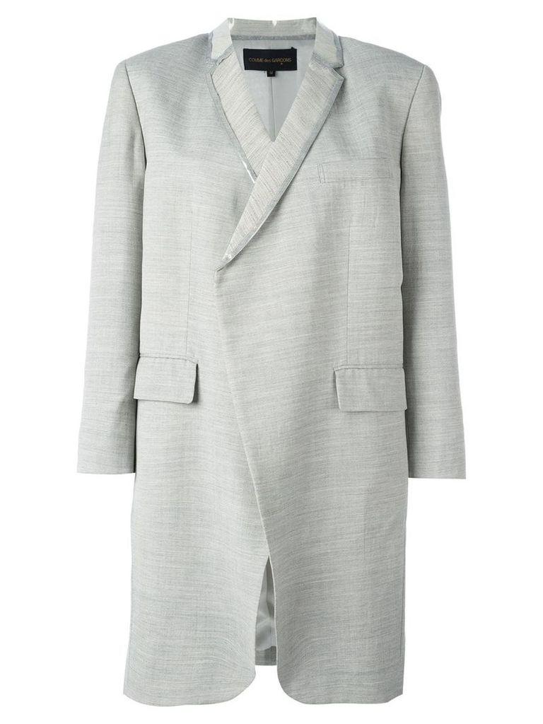 Comme Des Garçons Vintage PVC trim lightweight coat - Grey