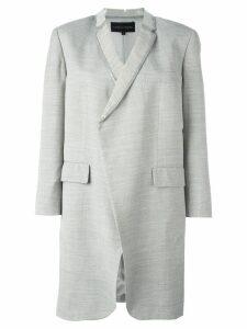 COMME DES GARÇONS PRE-OWNED PVC trim lightweight coat - Grey