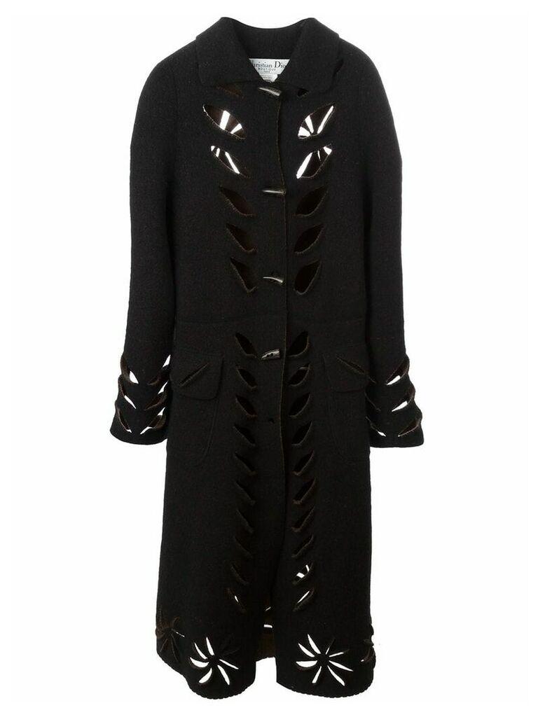 Christian Dior Vintage cutout long coat - Brown