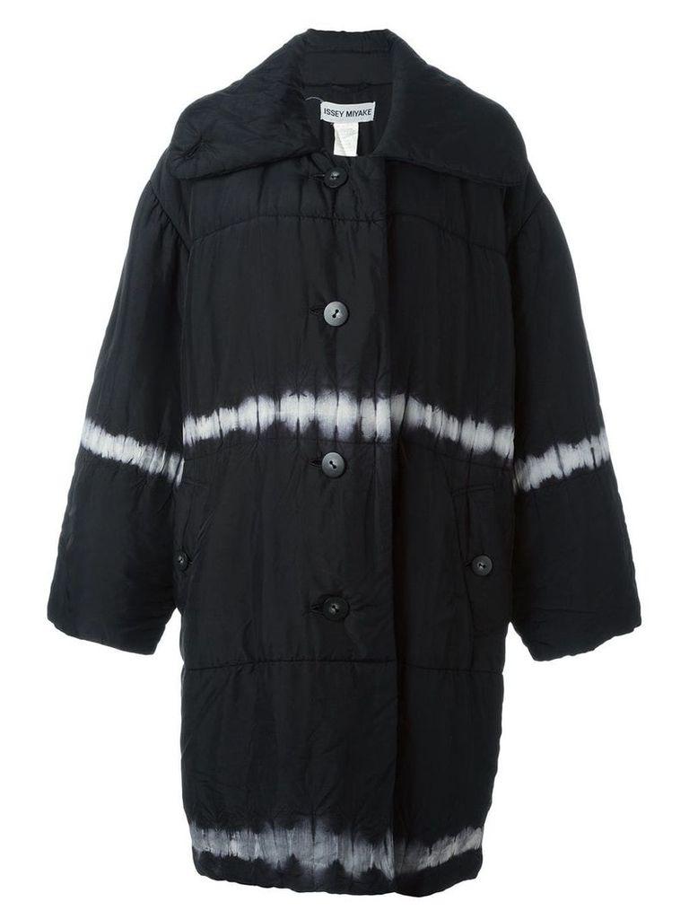 Issey Miyake Vintage tie-dye padded oversized coat - Black