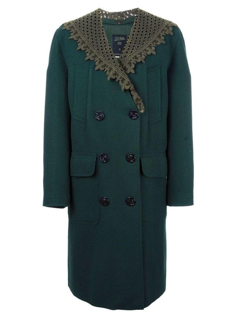 Jean Paul Gaultier Vintage detachable shawl collar coat - Green