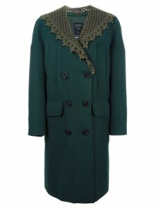 Jean Paul Gaultier Pre-Owned detachable shawl collar coat - Green