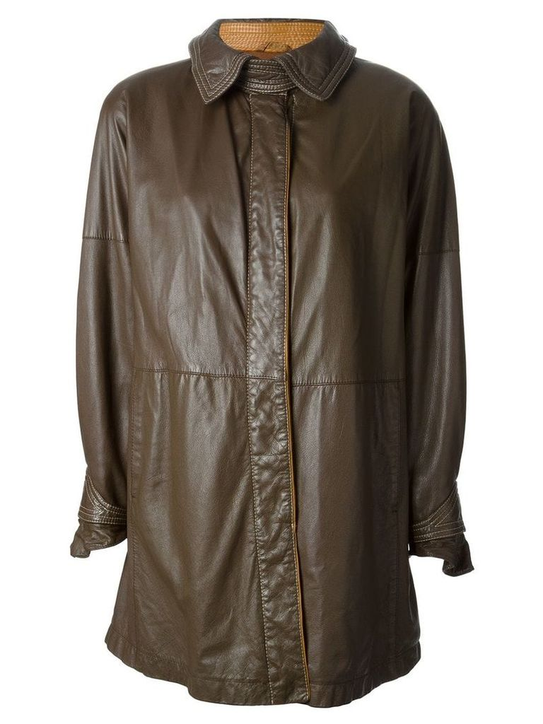 Gianfranco Ferre Vintage buttoned coat - Brown