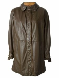 GIANFRANCO FERRE PRE-OWNED buttoned coat - Brown