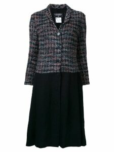 Chanel Pre-Owned contrast panel coat - Multicolour