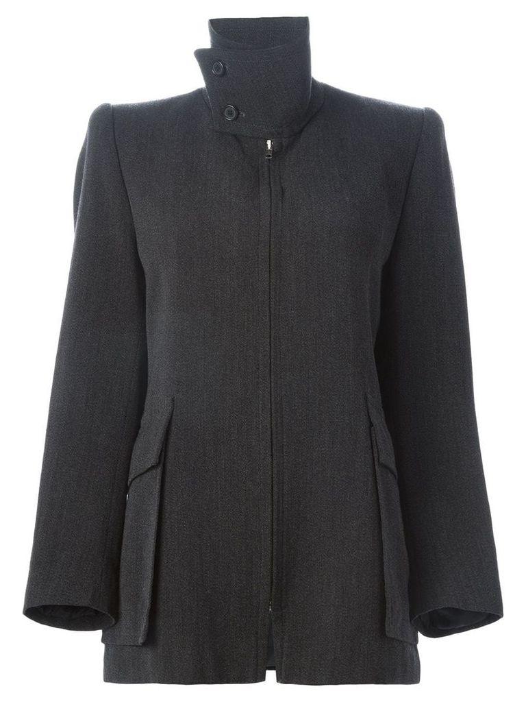 Maison Martin Margiela Pre-Owned short standing collar coat - Grey