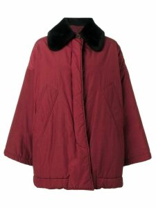 ROMEO GIGLI PRE-OWNED contrast collar coat - Red