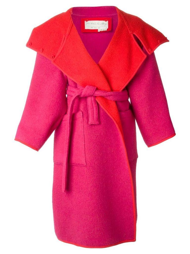 Jc De Castelbajac Vintage reversible oversized coat - Red
