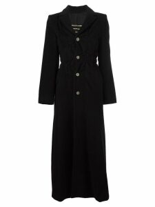 Jean Paul Gaultier Pre-Owned long single breasted coat - Black