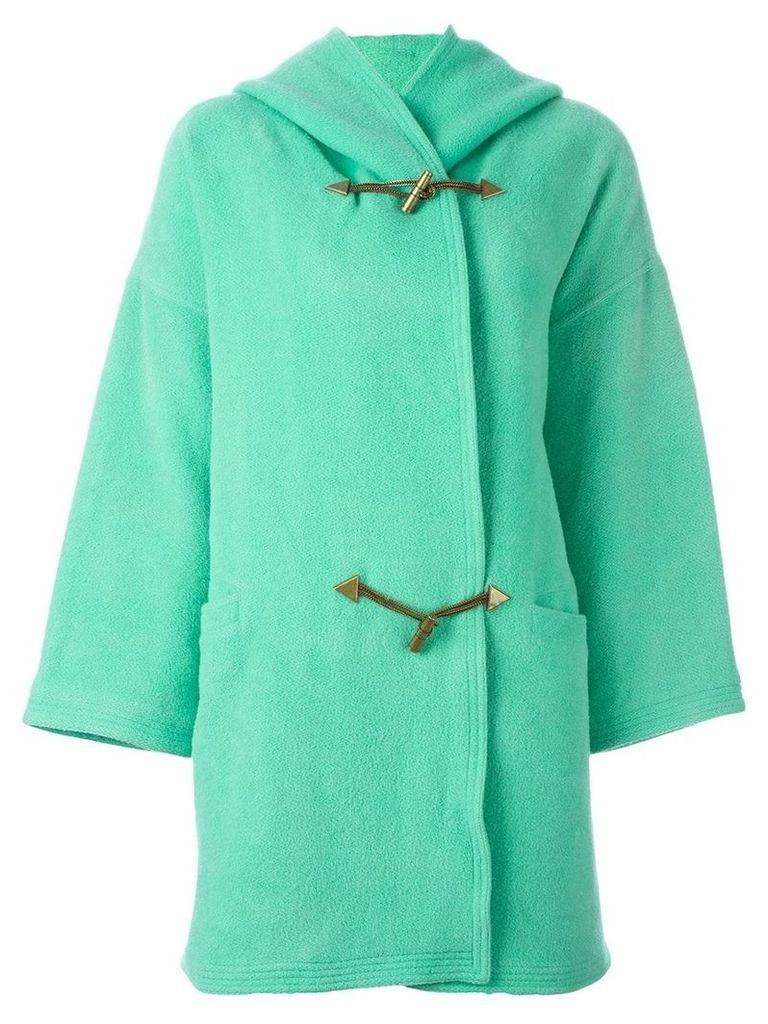 Versace Vintage hooded coat - Blue