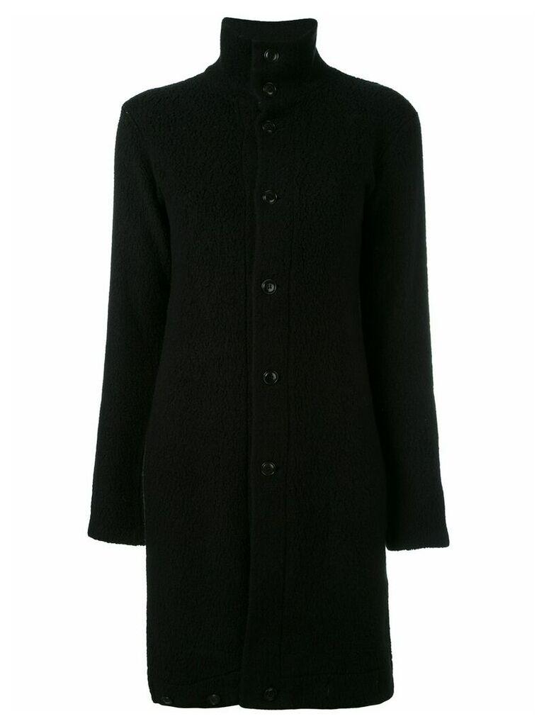 Yohji Yamamoto Vintage long funnel neck jacket - Black