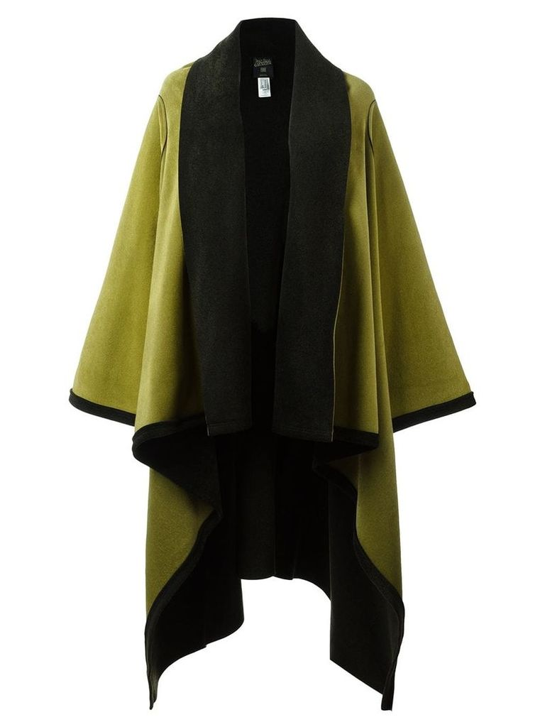 Jean Paul Gaultier Pre-Owned felt shawl wrap coat - Green