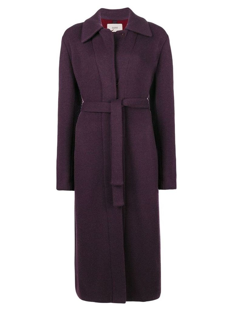 Fendi Pre-Owned belted coat - Pink