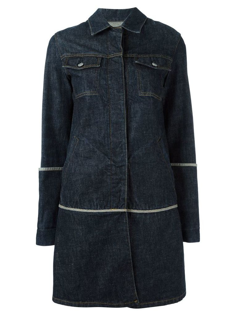 Helmut Lang Vintage 1997 denim coat - Blue