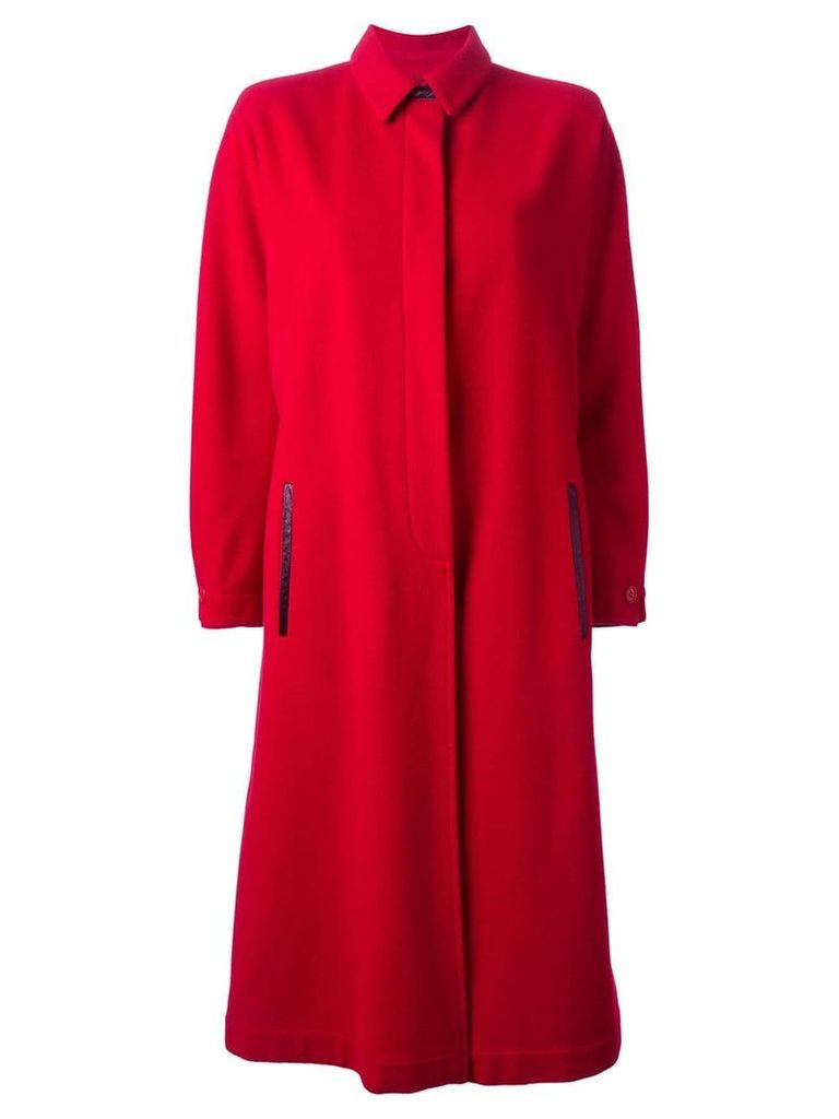 GIANFRANCO FERRE PRE-OWNED long coat - Red