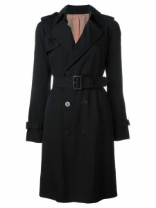 JEAN PAUL GAULTIER PRE-OWNED belted trench coat - Black