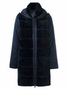 GUY LAROCHE PRE-OWNED detachable sleeve padded coat - Blue