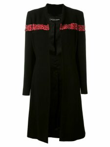 Jean Louis Scherrer Pre-Owned sequin and bead embellished coat - Black