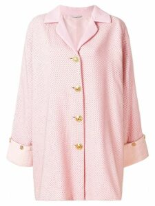 Versace Pre-Owned single breasted coat - Pink