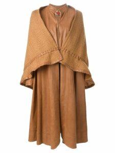 Roberta di Camerino Pre-Owned layered long coat - Neutrals