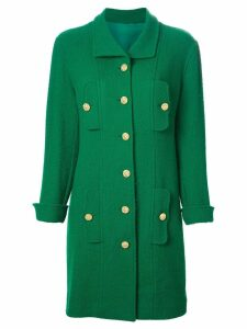 CHANEL PRE-OWNED single breasted coat - Green