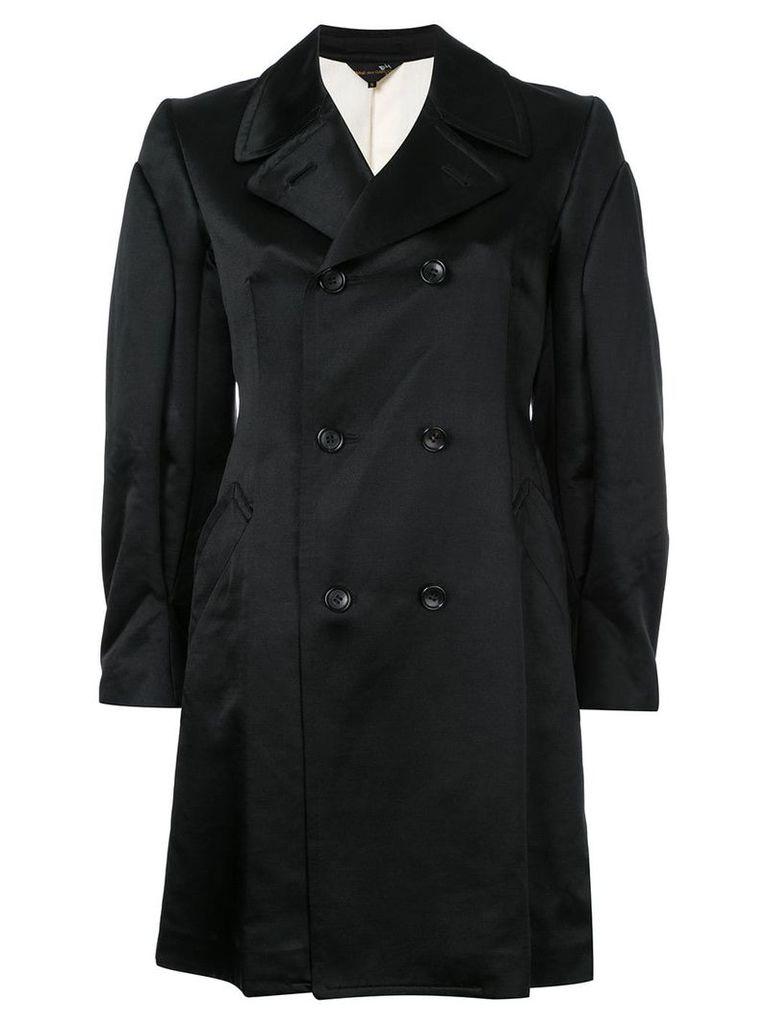 Comme Des Garçons Vintage classic double breasted coat - Black