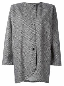 Emanuel Ungaro Vintage check print coat - Black