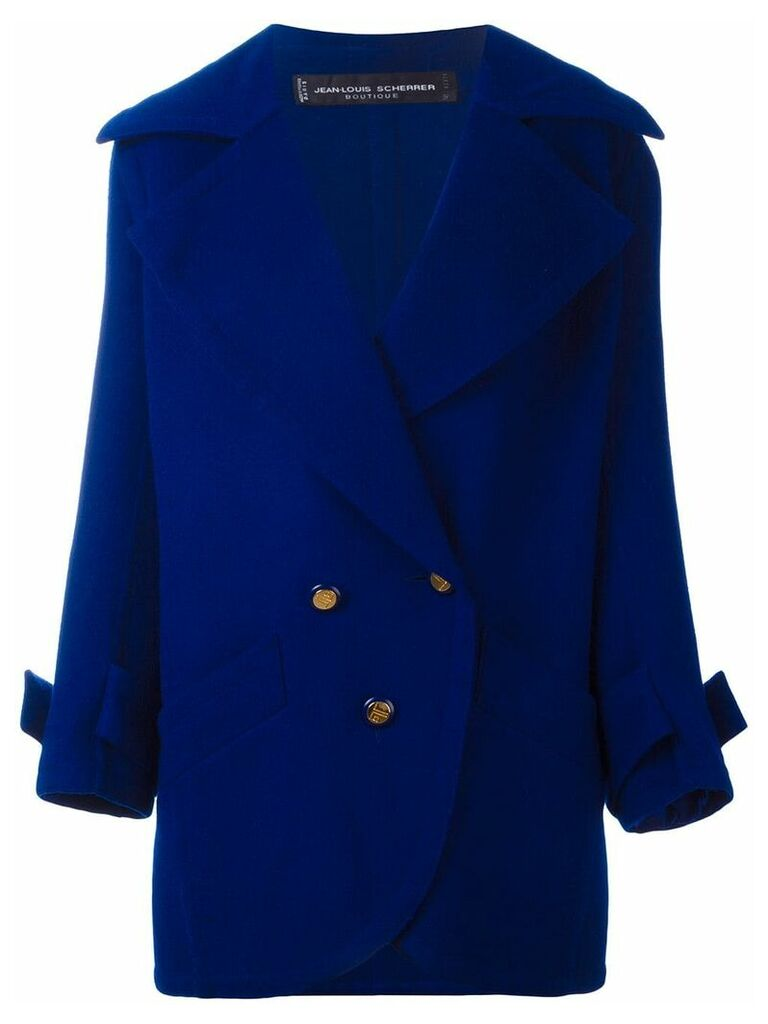 Jean Louis Scherrer Vintage button front short coat - Blue