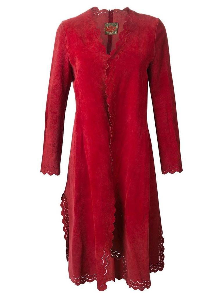 Roberta Di Camerino Vintage scalloped hem coat - Red