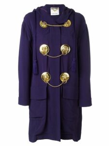 Moschino Pre-Owned medal embellished coat - Blue
