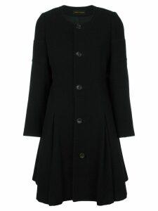 Comme Des Garçons Pre-Owned collarless flare coat - Black