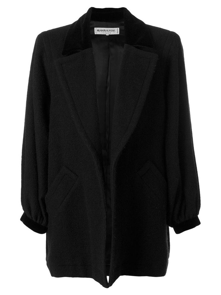 Yves Saint Laurent Vintage open front coat - Black