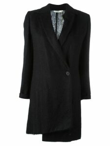 Romeo Gigli Pre-Owned asymmetric style coat - Black