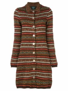Jean Paul Gaultier Pre-Owned long knitted cardigan - Multicolour