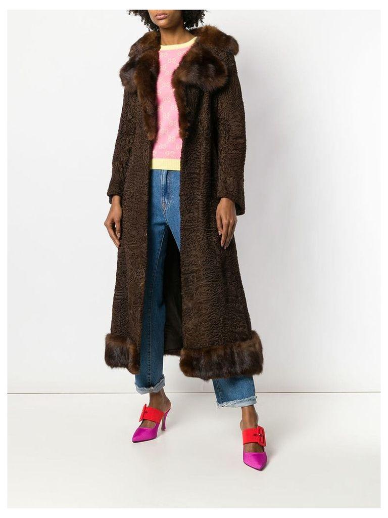 A.N.G.E.L.O. Vintage Cult long flared coat - Brown