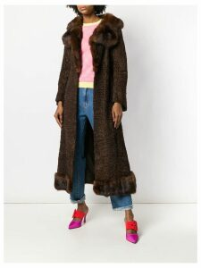 A.N.G.E.L.O. Vintage Cult long flared coat - Brown