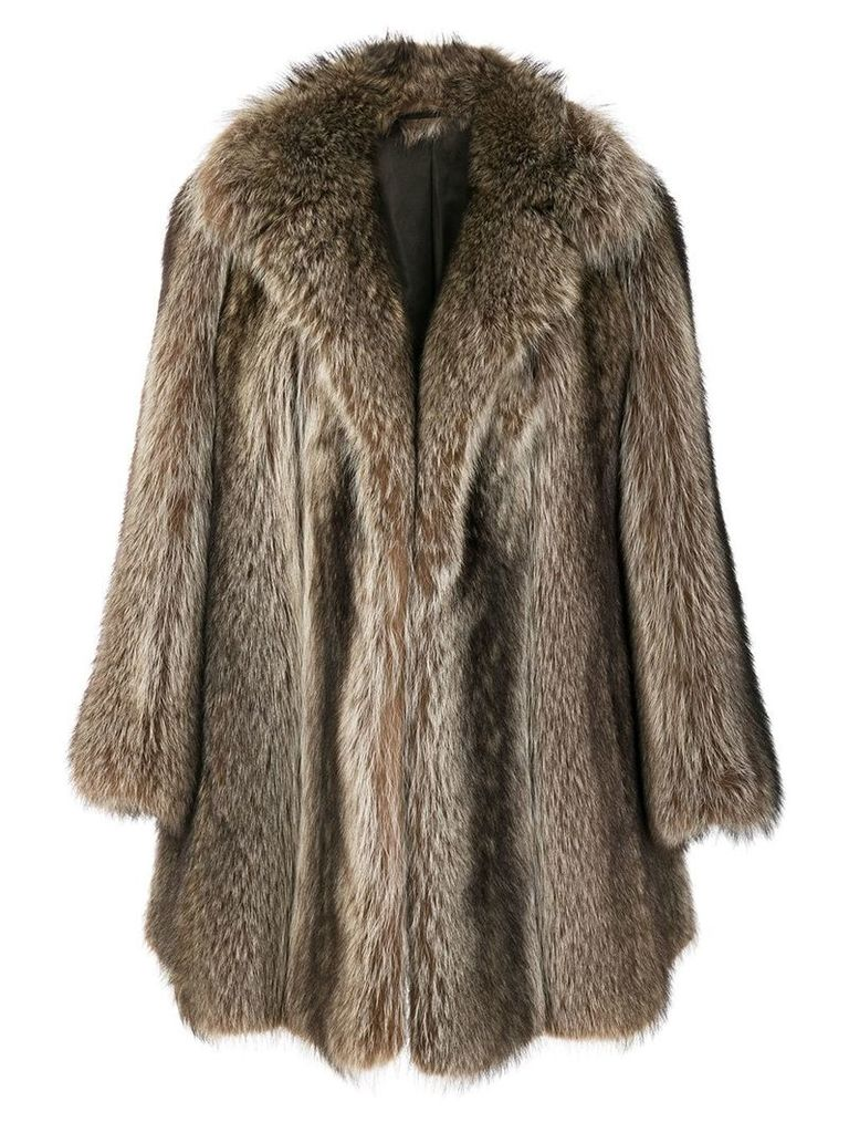 Christian Dior Vintage possum fur coat - Brown