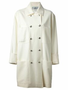 Jean Louis Scherrer Pre-Owned double breasted coat - White