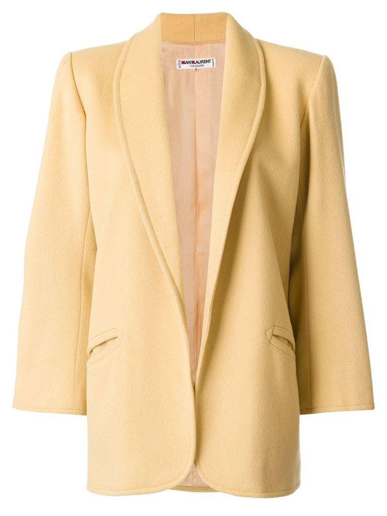 Yves Saint Laurent Vintage open front coat - Yellow
