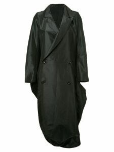 YOHJI YAMAMOTO PRE-OWNED bell bottom double breasted coat - Black