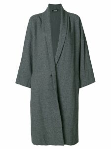 ISSEY MIYAKE PRE-OWNED oversized coat - Grey