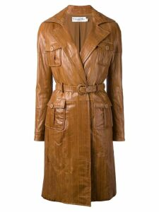 Christian Dior Pre-Owned panelled coat - Brown