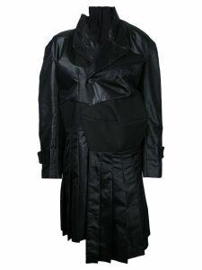 COMME DES GARÇONS PRE-OWNED deconstructed trenchcoat - Black