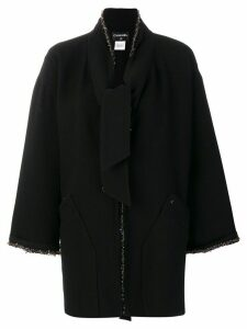Chanel Pre-Owned beaded midi coat - Black