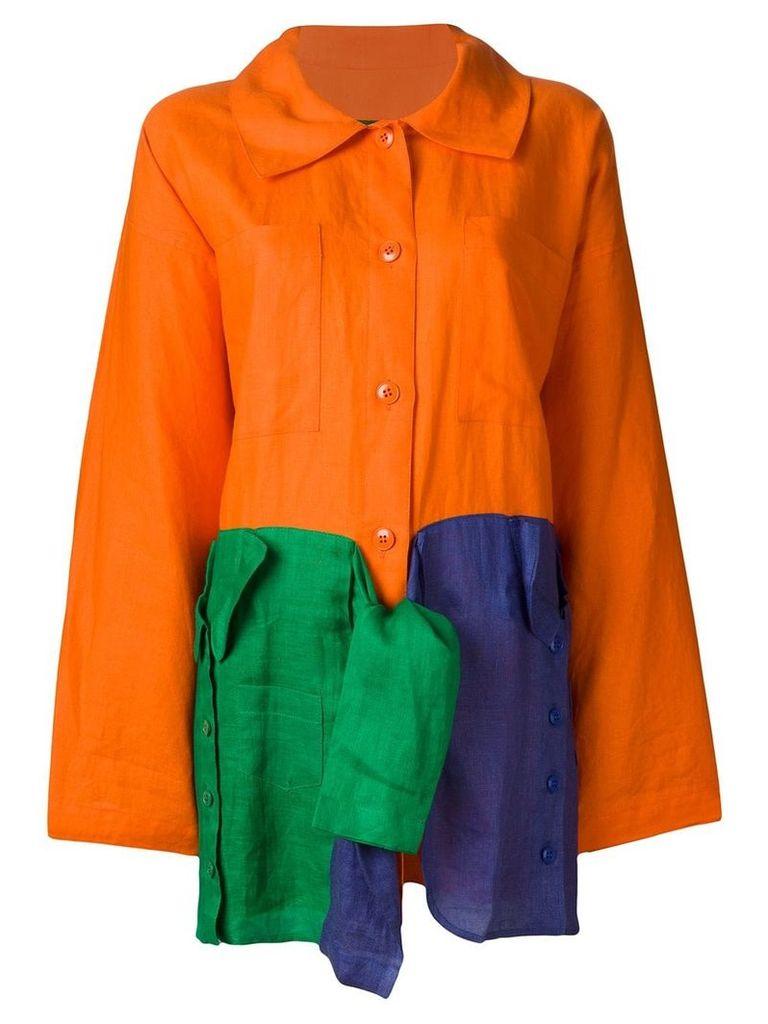 Jc De Castelbajac Vintage oversized light coat - Yellow