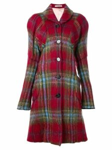 Vivienne Westwood Pre-Owned Gold Label tartan coat - Red